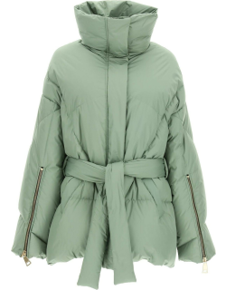 KHRISJOY NEW ICONIC BELTED DOWN JACKET 0 Green Technical
