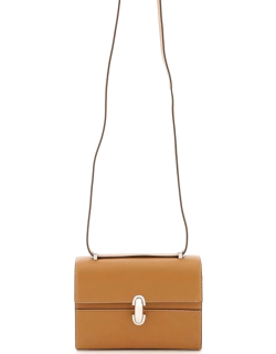 SAVETTE SYMMETRY 19 LEATHER BAG OS Brown Leather