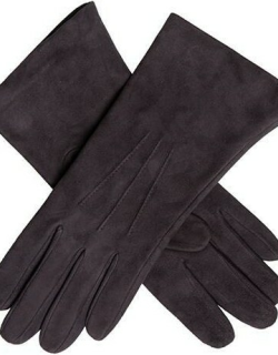 Dents Women's Silk Lined Lamb Suede Gloves In Mocca