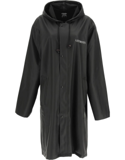 """VETEMENTS """"FASHION IS MY PROFESSION"""" TRENCH COAT XS Black, White Technical"""