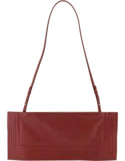 Y PROJECT WIRE LEATHER CLUTCH OS Red Leather
