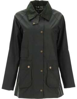 BARBOUR BARBOUR TAIN WAX JACKET 8 Green Cotton