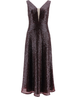 IN THE MOOD FOR LOVE LEANDER SEQUINED DRESS XS Purple