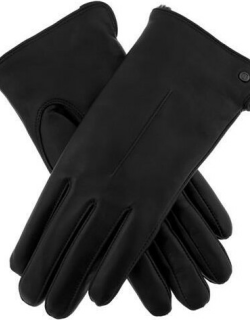 Dents Women's Faux Fur Lined Leather Gloves In Black