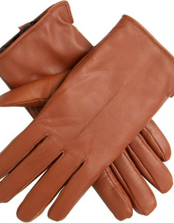 Dents Women's Faux Fur Lined Leather Gloves In Cognac