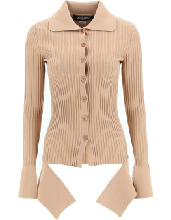 ADAMO CARDIGAN WITH CUT-OUT DETAIL S Beige