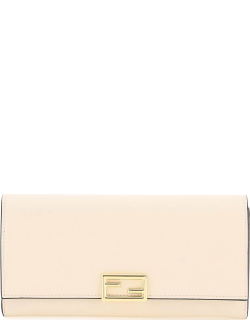 FENDI FENDI WAY LEATHER CONTINENTAL WALLET OS Pink Leather