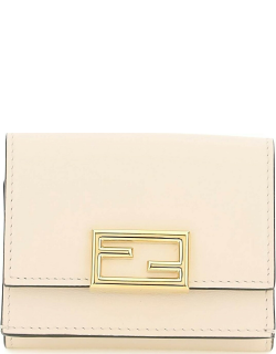 FENDI TRI-FOLD LEATHER MICRO WALLET OS Pink Leather