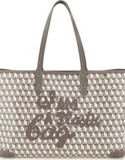 ANYA HINDMARCH I AM A PLASTIC BAG SMALL TOTE BAG OS Grey, White Faux leather