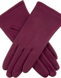 Dents Women's Single Point Leather Gloves In Hot Pink