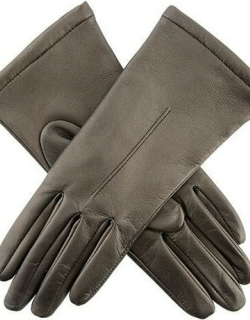 Dents Women's Single Point Leather Gloves In Pewter