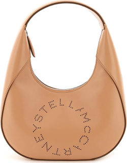 STELLA McCARTNEY SMALL HOBO BAG WITH LOGO OS Beige Faux leather