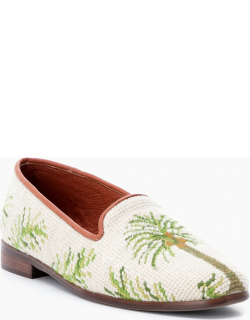Palm Trees Needlepoint Loafer