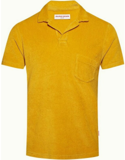 Terry Towelling - Bright Gold Tailored Fit Towelling Resort Polo Shirt