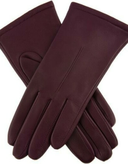 Dents Women's Single Point Leather Gloves In Cassis