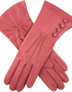 Dents Women's Silk Lined Leather Gloves In Antique Rose