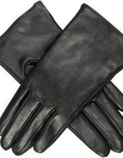 Dents Women's Leather Glove With 3 Points In Black