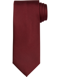 JoS. A. Bank Men's Traveler Collection Solid Tie, Burgundy, One