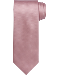 JoS. A. Bank Men's Traveler Collection Solid Tie, Pink, One