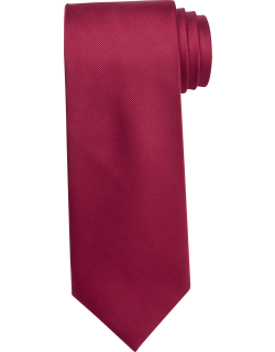 JoS. A. Bank Men's Traveler Collection Solid Tie, Red, One