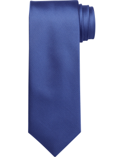 JoS. A. Bank Men's Traveler Collection Solid Tie, Blue, One