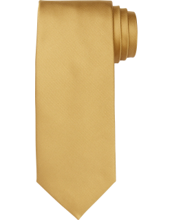 JoS. A. Bank Men's Traveler Collection Solid Tie, Gold, One