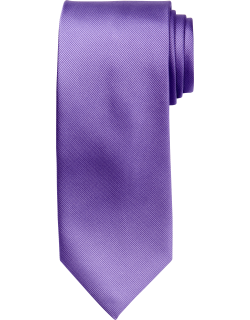 JoS. A. Bank Men's Traveler Collection Solid Tie, Lilac, One