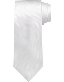 JoS. A. Bank Men's Traveler Collection Solid Tie, White, One