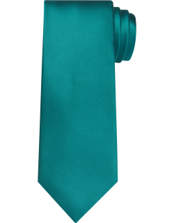 JoS. A. Bank Men's Traveler Collection Solid Tie, Bright Green, One