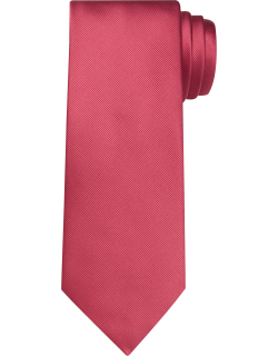 JoS. A. Bank Men's Traveler Collection Solid Tie, Light Red, One