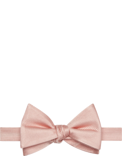 JoS. A. Bank Men's Ribbed Pre-Tied Bow Tie, Light Pink, One