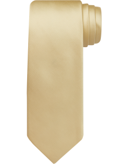 JoS. A. Bank Men's Traveler Collection Solid Tie, Light Yellow, One