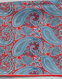 JoS. A. Bank Men's Paisley Silk Pocket Square, Red, One