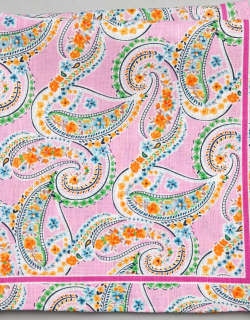 JoS. A. Bank Men's Paisley & Floral Linen and Cotton Blend Pocket Square, Pink, One