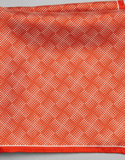 JoS. A. Bank Men's Silk Ombre Check Pocket Square, Red, One