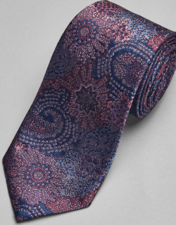 JoS. A. Bank Men's Reserve Collection Floral Tie, Pink, One