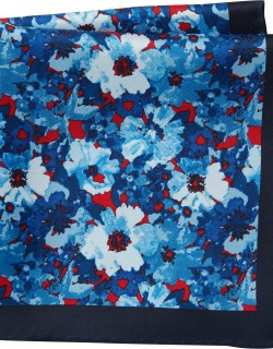 JoS. A. Bank Men's Joseph A. Bank Floral Pocket Square Clearance, Red, One