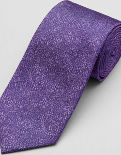 JoS. A. Bank Men's 1905 Collection Paisley Swirl Tie, Purple, One