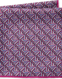 JoS. A. Bank Men's Abstract Pattern Silk Pocket Square Clearance, Dark Pink, One