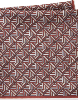 JoS. A. Bank Men's Abstract Pattern Silk Pocket Square Clearance, Burgundy, One