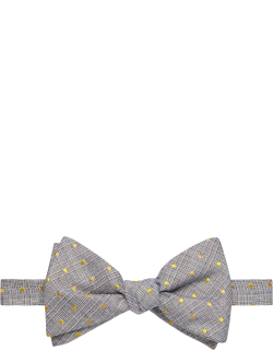 JoS. A. Bank Men's Mini Dot Pre-Tied Bow Tie Clearance, Yellow, One