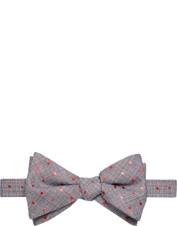 JoS. A. Bank Men's Mini Dot Pre-Tied Bow Tie Clearance, Pink, One