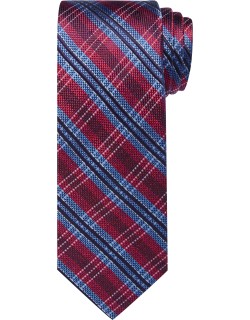 JoS. A. Bank Men's Reserve Collection Plaid Tie, Red, One