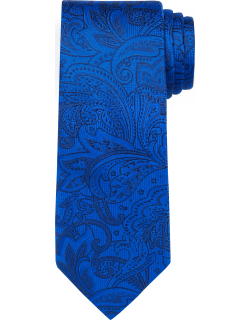 JoS. A. Bank Men's Reserve Collection Floral Paisley Tie, Bright Blue, One