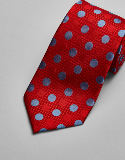 JoS. A. Bank Men's Reserve Collection Dot Tie, Red, One