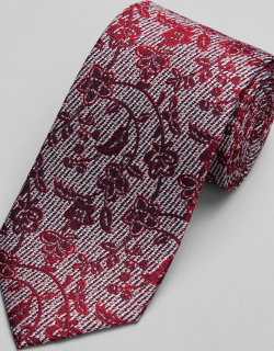 JoS. A. Bank Men's Reserve Collection Floral Tie, Red, One