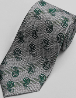 JoS. A. Bank Men's Reserve Collection Paisley & Plaid Tie, Green, One