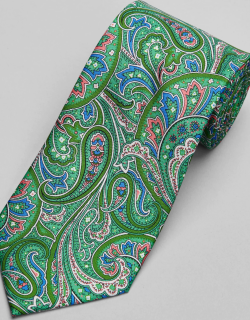 JoS. A. Bank Men's Reserve Collection Paisley Swirl Tie, Green, One