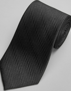 JoS. A. Bank Men's Reserve Collection Stripe Textured Tie, Black, One