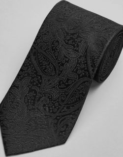 JoS. A. Bank Men's Reserve Collection Paisley Tie, Black, One